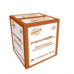 Thermal Paper Roll 57mm x 35mm x Coreless (100 rolls/box)